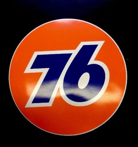 """3/"""" Inch Round Union 76 Gas Station Gasoline Oil Decal Sticker Original Unocal"""