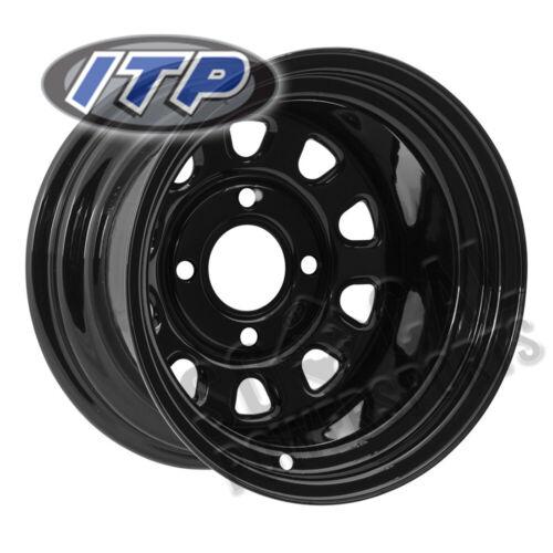 ITP Delta Steel Wheel 12x7 4//137 Black 4+3 Can Am Maverick Turbo 2016-2017