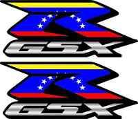 2 Custom Venezuela Flag Gsxr Decals Stickers 600 750 1000 Hayabusa 1300 1100