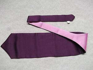 Logique Garçons Cravate Mariage Cravate Formal Party Une Taille Unique Fin Violet & Rose-afficher Le Titre D'origine