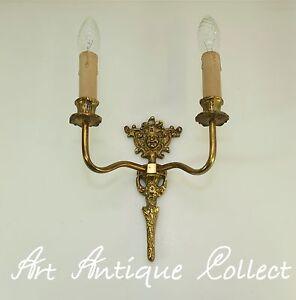 Antik Wandlampe Wandleuchte Messing Jugendstil Figuren Leuchter Led Alte Lampe