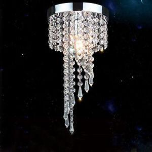 Cristal Bombillas de LED de Cromo luces Detalles techo 7434HC Pasillo lámpara Candelabros wiluPkOXZT