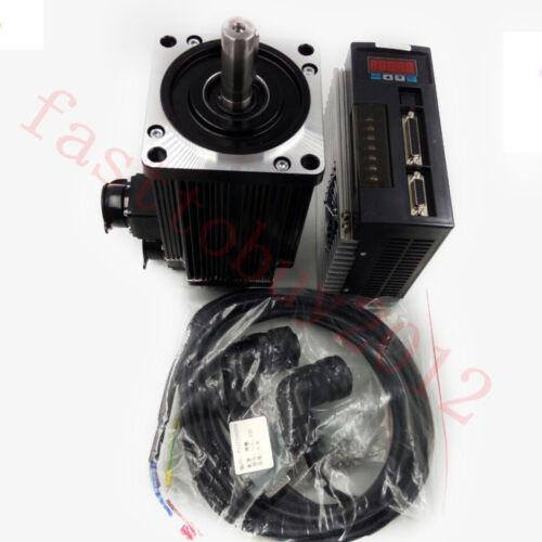 110mm 220v AC Servo Motor Drive Conrroller Kit 2Nm 4Nm 5Nm 6Nm NEMA42+3M Cables