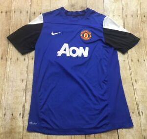 Manchester-United-Nike-Jersey-2010-11-Youth-XL-Women-Small-XS-Soccer-Football