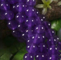 """Wholesale 5pcs 8mm Russican Amethyst Gemstone Round Loose Beads 15"""""""