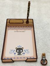 NWT Sanrio Hello Kitty/Chococat Mini Desktray Set Memo Paper Clip Tray
