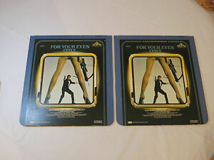 For-Your-Eyes-Only-James-Bond-007-2-Disc-set-CED-Video-Disc-videodisc-movie-RARE