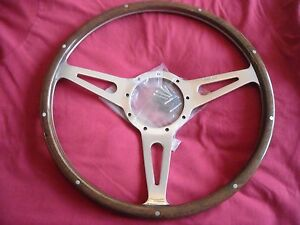 MOTO-LITA-15-034-MK3-DISHED-COBRA-SLOT-WOODRIM-STEERING-WHEEL-FORD-MUSTANG-COBRA