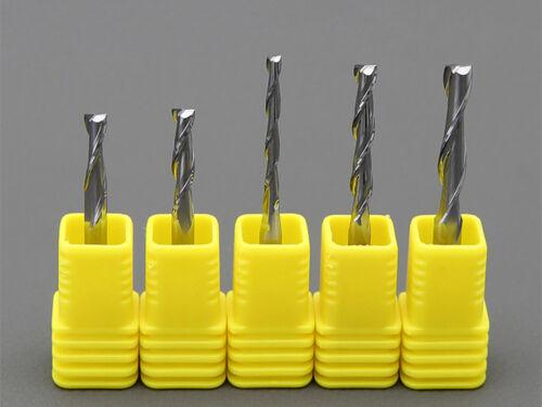 10pcs 3.175mm x 2mm x 12mm Double Flute Carbite spiral End Mill Cutter CNC Bit