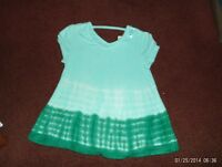 Justice -- Girls Size 20 -madeline Top--flowy Top-- Multi Greens