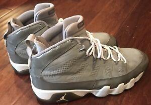 02a7e91bd570 Nike 302370-011 Air Jordan IX 9 Retro Cool Gray White Men s Athletic ...
