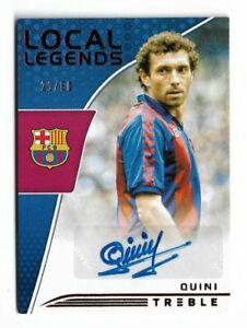 2018-19 Panini Treble Soccer Autograph Auto Card :Quini#20/50