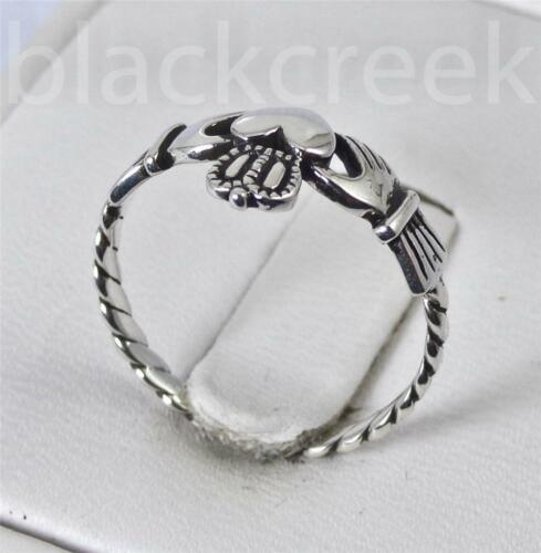 .925 Sterling Silver ~  ~Claddagh ~ Ring~ Size 3//4//5//6//7//10