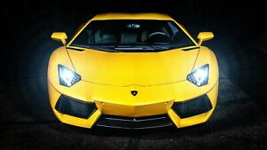 Yellow-Lamborghini-Murcielago-Auto-Car-Art-Silk-Wall-Poster-Print-24x36-034