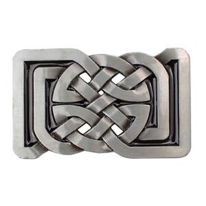 Celtic knot leather snap fit belt