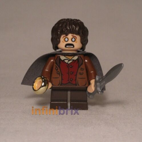 from Set 9470 Shelob Attacks LOTR Hobbit lor003 Lego Frodo Baggins Grey Cape