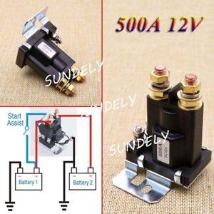 Uk 4 pin 500a 12v car auto power switch dual battery isolator relay image is loading uk 4 pin 500a 12v car auto power freerunsca Choice Image