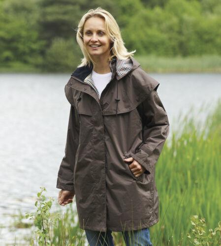 Ladies County Estate Waterproof Cape Coat Rain Jacket Casual Walking Equestrian