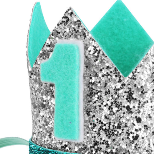 Baby Girls Boys Toddler 1st 2nd Birthday Party Shiny Crown Hat Fishtail Headband