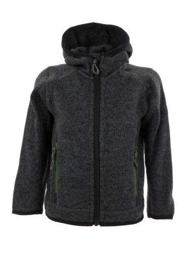 CMP Giacca Giacca Boy Jacket Fix Hood Nero Traspirante melange
