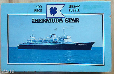 Bermuda Star Line Puzzle Vintage C 1980s Ss Bermuda Star Cruise Ship
