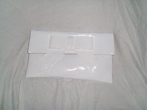 WHITE PATENT SHOULDER BAG WHITE PATENT CLUTCH BAG