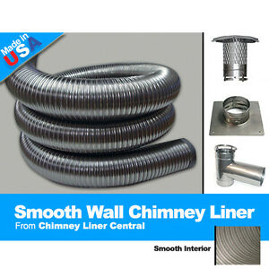 Flexible Smooth Wall 2 Ply Chimney Liner 4 X 20 Tee