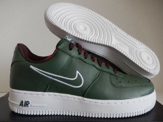 quite nice abac8 004be Nike Men's Air Force 1 Low Top Athletic Active Shoes SNEAKERS 845053 Green 7