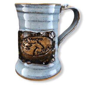 Wild-Horse-Pottery-Handmade-Studio-Mug-Cup-12-OZ-Denim-Blue-Glaze-Equine-Clay