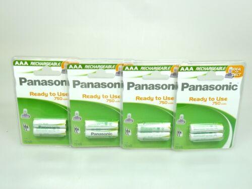 8 x Panasonic Akku AAA  Ni-MH 1,2V 750mAh DECT  ideal für Telefon