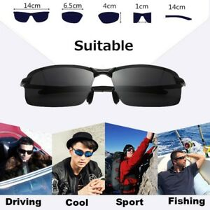 Men-Black-Polarized-Glasses-Outdoor-Sports-Eyewear-Driving-UV-Sunglasses