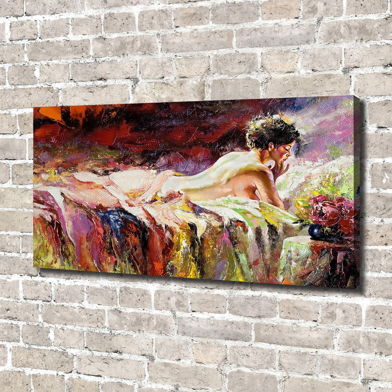 Leinwandbild Kunst-Druck 140x70 Bilder Kunst Liegende Frau