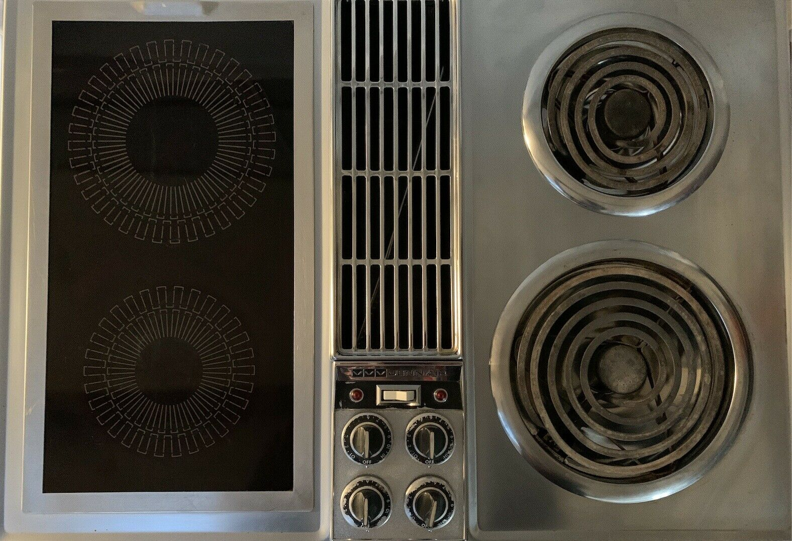 Vintage Jenn Air C201 Stainless Steel Downdraft 30 Cooktop Electric Free Ship For Sale Online
