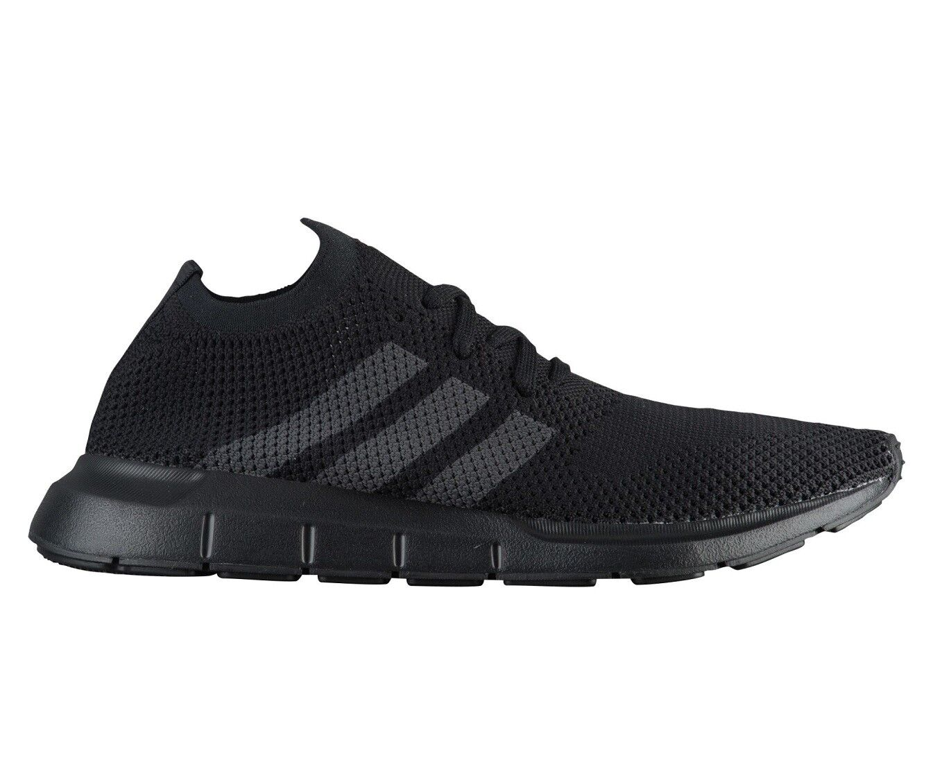Adidas Swift Run PK Mens CQ2893 Black Grey Primeknit Running Shoes Size 9.5