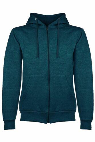 Mens Fleece Zipper Hooded Hoodie Casual Zipup Sweatshirt Jacket Jumper Top Hoody