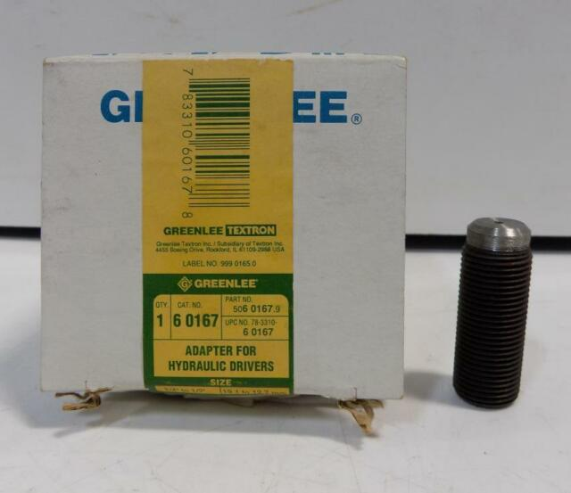 Greenlee 60167 Replacement adapter for hydraulic drivers.