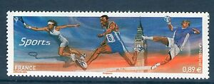 TIMBRE-4673-NEUF-XX-LUXE-JEUX-OLYMPIQUE-LONDRES-2012-TENNIS-COURSE-HANDBALL