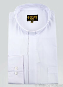 Pastor Purple//White Pinstripe Standard Cuff Tab Collar Men/'s Clergy Shirt