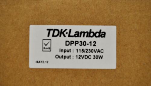 TDK-Lambda DPP30-12 Power Supply 115//230VAC to 12VDC
