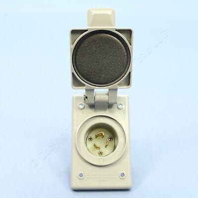 Industrial Grade Flanged Inlet Locking Plug Leviton 7524-C 15 Amp,125 Volt