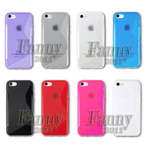 Gel TPU Skin Cover Case for iPhone 5C
