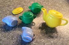 Vintage 1960s Plastic Tea Set w/Extra Pieces/Hong Kong