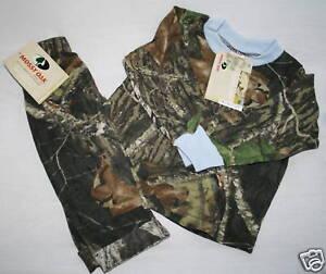NEW Mossy Oak Camo 2pcs Bodysuit set Outfit Hunting Shirt Baby Infant Sizes
