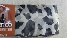 "/""Tecido Trico/""  Fabric Ruffle Yarn by Circulo #2635 Cow Print"