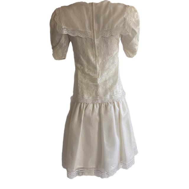 Gunne Sax Ivory Dress Girls Short Sleeve Jessica … - image 4