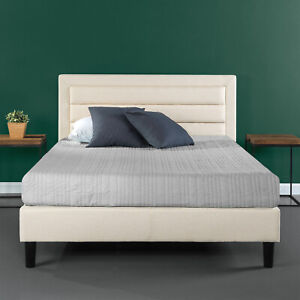 Zinus Mckenzie Upholstered Detailed Platform Bed