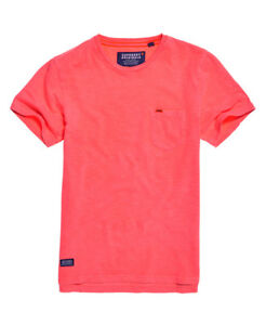 b84ef66e2ef35f Neues Herren Superdry Dry Originals T-Shirt mit Tasche Dry Shock Rosa