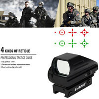 Brand Tactical Red Green Dot Reflex Optical Sight Scope 4 Reticle 20mm Rail Us