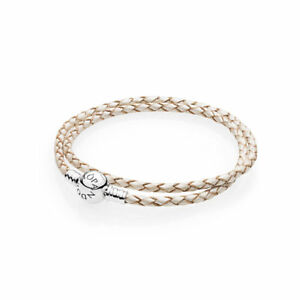 RETIRED-PANDORA-Moments-Pearl-Double-Woven-Leather-Bracelet-RRP-75-590745CPL