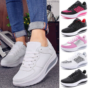 Women-Wedge-Sneakers-Breathable-Walking-Shoes-Lace-Up-Trainers-Platform-Shoes